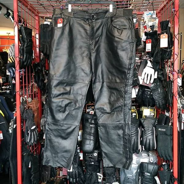 LEATHER STEEL Leather Overpant PANTS 20211 ( Size 44 )