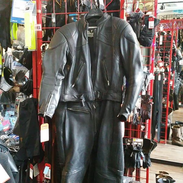 TEKNIC Leather Two Piece RACE SUIT 21191 ( Size 12 )