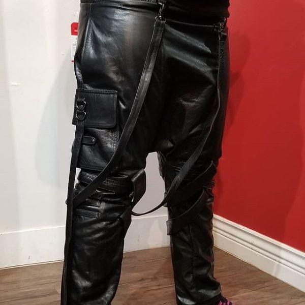 ARAHANT Leather Drop Crotch Combat PANTS 22399 ( Size 36 )
