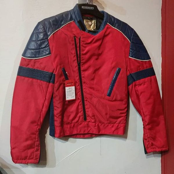 WOLFF Mixed Material Cafe Racer JACKET 23031 ( Size Sm M 40 )