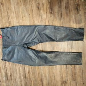 "BRITISH CYCLE LEATHERS Leather Vintage Moto PANTS 23169 ( Size 38"" )"