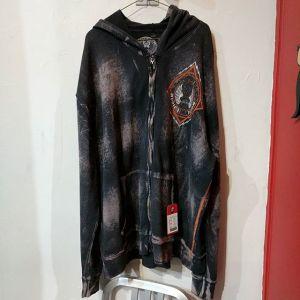 AFFLICTION Textile Center zip HOODIE 23250 ( Size 58 Lrg M )