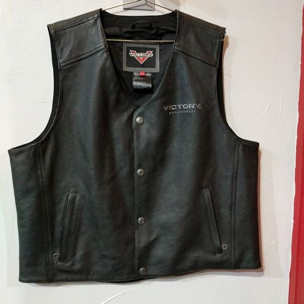 "VICTORY Leather Riding VEST 23291 ( Size XXL M 50"" )"