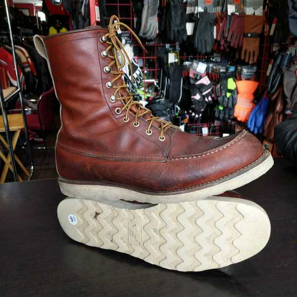 RED WING Leather Classic Moc BOOTS 23393 ( Size 46 )