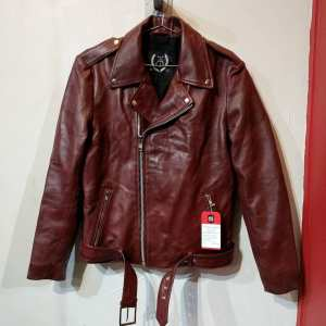 Threads of Apollo Leather Biker Classic JACKET | 23652 ( Size: MED m 40 )