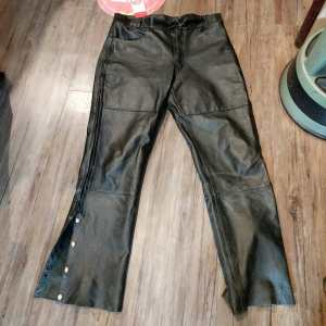 LEATHER STEEL Leather Side Zip PANTS | 24222