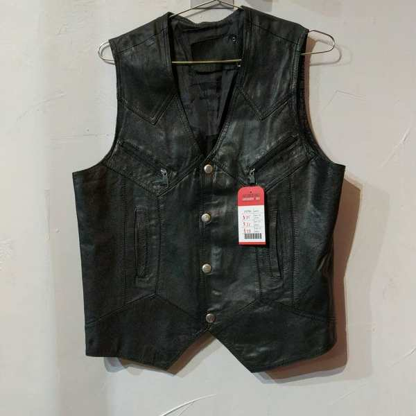 YOMAX Leather Gambler VEST | 24746