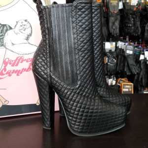 JEFFREY CAMPBELL Vegan Leather AVAL QUILT BOOTS | 25072