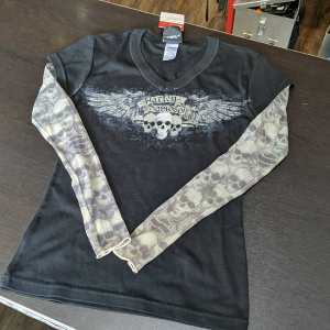 HARLEY DAVIDSON Textile Tattoo sleeved T-SHIRT | 25725