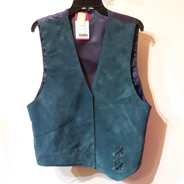 RALPH'S LEATHER Asymmetrical Leather (Suede) VEST   26464