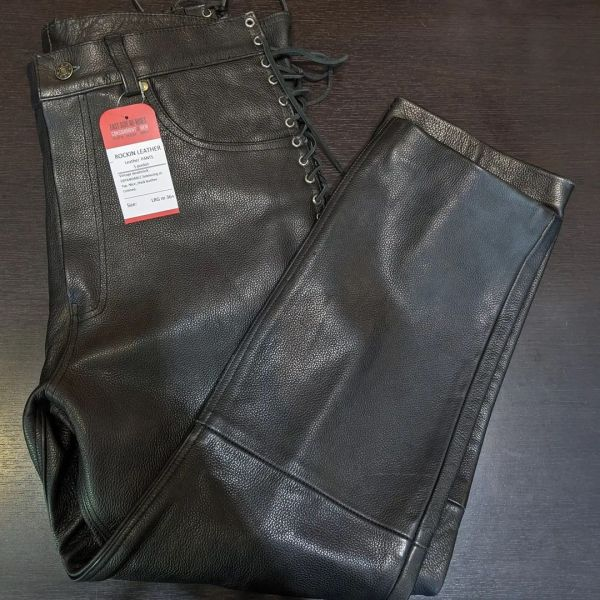 ROCKIN LEATHER 5-pocket Leather PANTS   26468