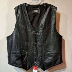 BUENOS CANADA Gambler Leather VEST | 27334