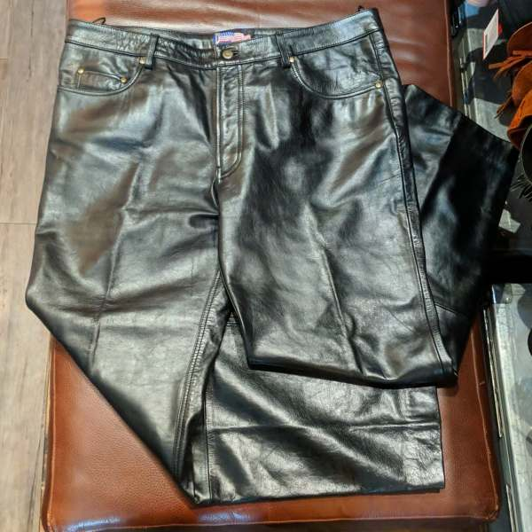LEATHER USA 5 pocket jean Leather PANTS   27154