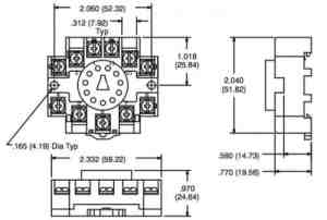 NTE R95114 11 Pin DIN RailOctal Relay Socket | SacElec