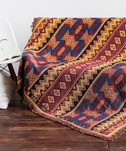 Thick cotton printed blankets
