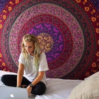 Mandala Home Decorative Tapestry Wall Hanging and Table Cover
