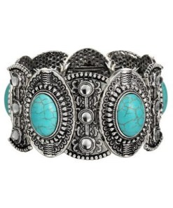 Vintage style bangles with stones