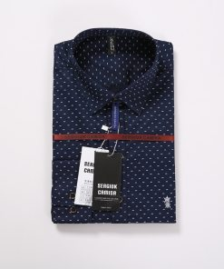 Men polka dot shirt