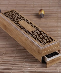 Wooden incense stick burner and holder
