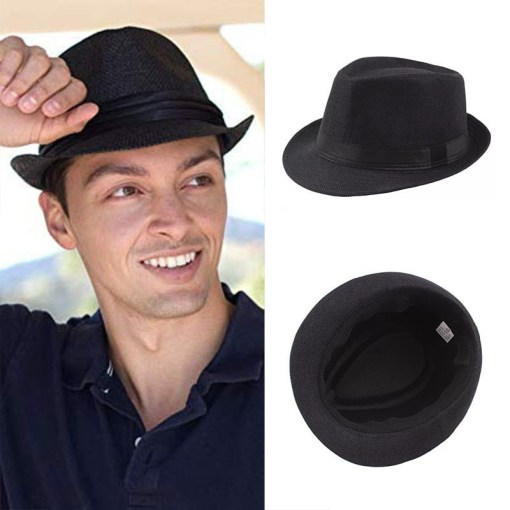 Fedora hat with Black Strap