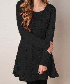 Casual knitted sweater dress