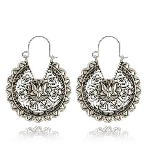 Vintage flower drop earrings