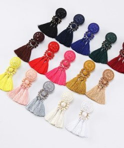 Women drop tassel earrings