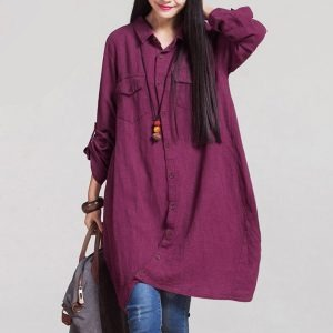 Women casual shirt dress