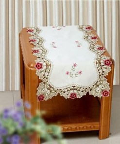 Handmade Cutwork Table Cover Floral