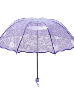 Clear plastic windproof umbrellas