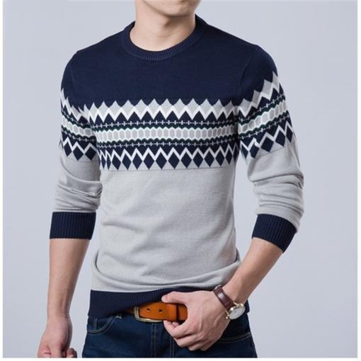 Men Plus Size Sweater Long Sleeve