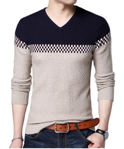 Mens Knitted Sweater Long Sleeve