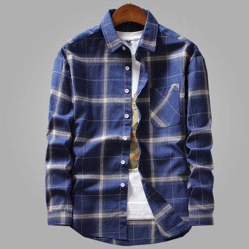 Mens Casual Shirts Long Sleeve
