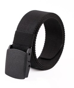 Mens Polyester belt with snap buckle