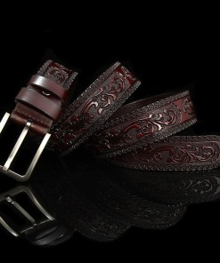 Mens Floral Vintage Belt Pin Buckle