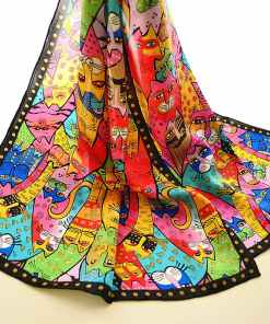 Colorful Silk Cat Scarf