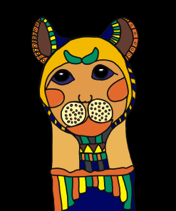 10-Ancient Egyptian Cats Cat Mummy Coloring page by LA Vocelle