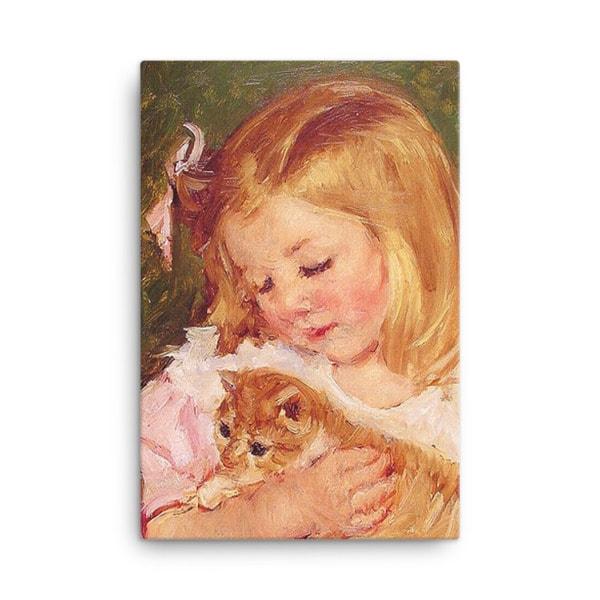 Mary Cassatt Cat Art Print 18×24