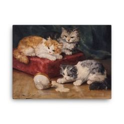 Alfred Brunel de Neuville: Les Chats, Before 1941, Canvas Cat Art Print