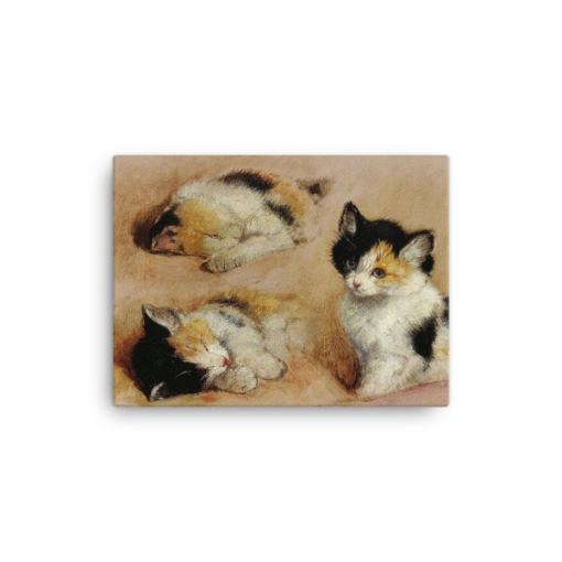 Henriette Ronner-Knip: Study of a Sleeping Kitten, Canvas Cat Art Print