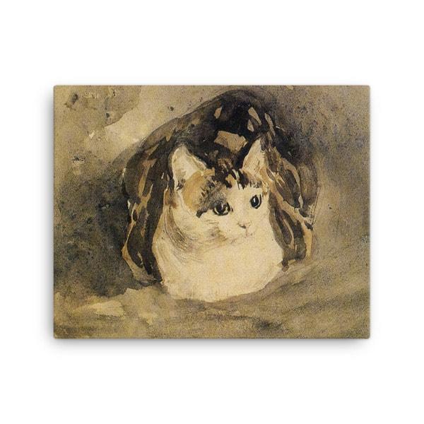 Gwen John: The Cat, 1904-08, Canvas Cat Art Print, 18×24