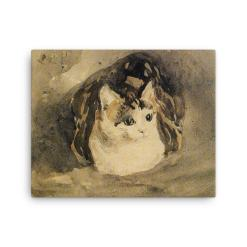 Gwen John: The Cat, 1904-08, Canvas Cat Art Print