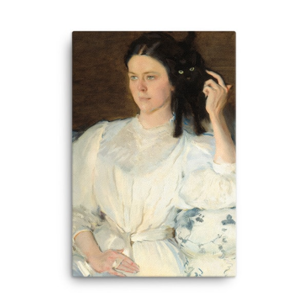 Cecilia Beaux: Sita and Sarita, 1893, canvas print reproduction, 18×24