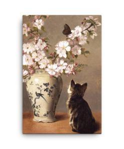 John Henry Dolph: The Butterfly, 1870, Canvas Cat Art Print