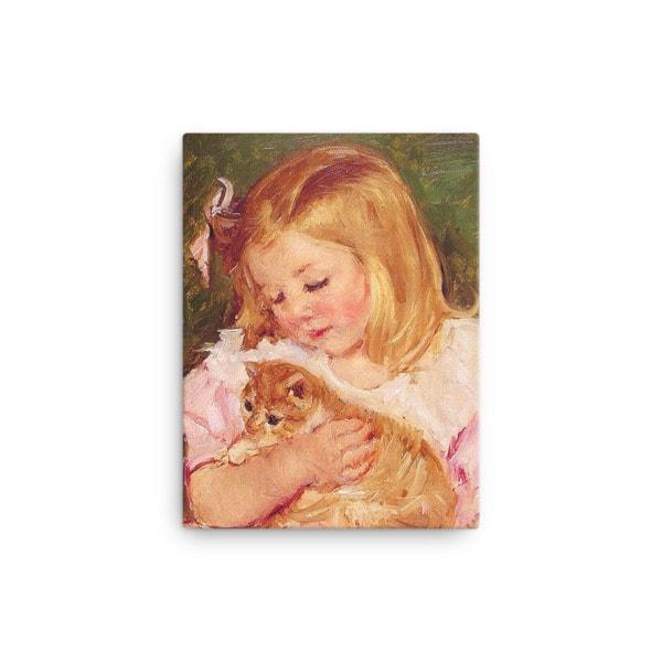 Mary Cassatt Cat Art Print 12×16