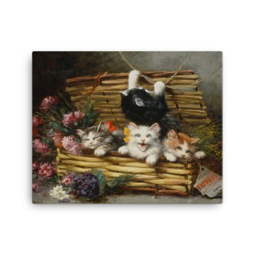 Leon Charles Huber Cat Art Prints and Posters at The Great Cat Store