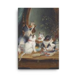 Carl Reichert: Kittens in the Boudoir, Before 1918, Canvas Cat Art Print