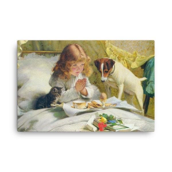 Charles Burton-Barber: Suspense, 1894, Canvas Cat Art Print, 16×20