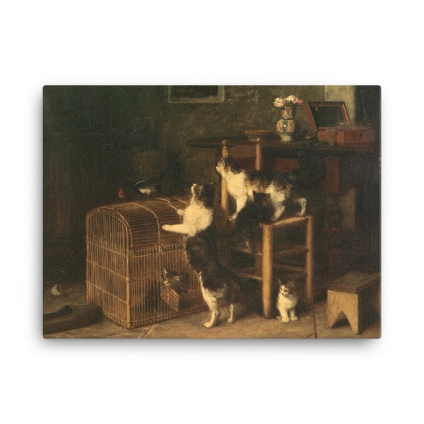 Louis Eugene Lambert: Invasion, 19th century, Canvas Cat Art Print, 18×24