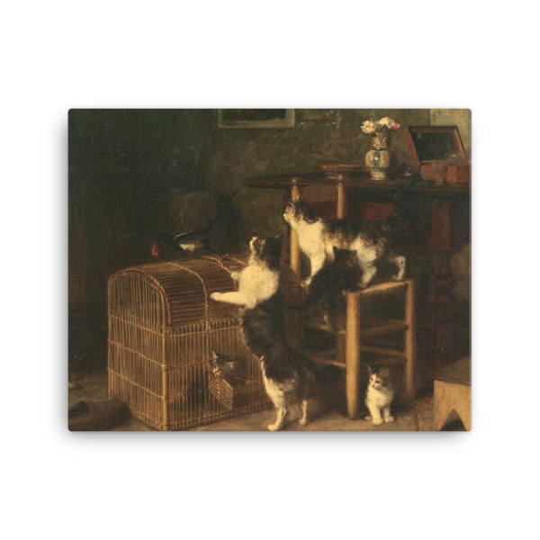 Louis Eugene Lambert: Invasion, 19th century, Canvas Cat Art Print, 16×20
